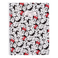 Cuaderno Tapa Polipropileno A4 Pautado Microperforado Minnie Mouse Rocks The Dots