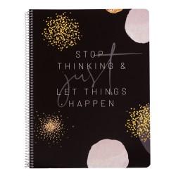 Cuaderno Tapa Polipropileno A4 Pautado Microperforado Glitter Gold Dreams