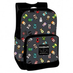 Mochila Minecraft Bobble Mobs Grey