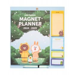 Magnet Planner 2019/2020 Line Friends
