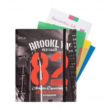 Carpeblock 4 Anillas Premium Soy Nueva York Color