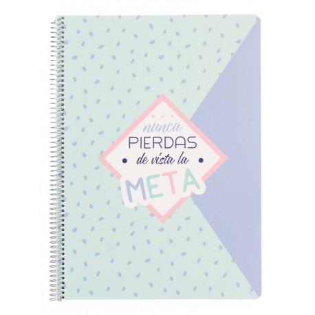 Cuaderno Tapa Polipropileno A4 4X4 Amelie Pastel Collection