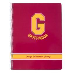Cuaderno Tapa Polipropileno A4 5X5 Microperforado Harry Potter Gryffindor