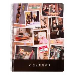 Cuaderno Tapa Polipropileno A4 5X5 Microperforado Friends