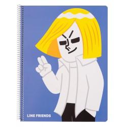 Cuaderno Tapa Polipropileno A4 5X5 Microperforado Line Friends