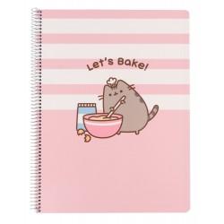 Cuaderno Tapa Polipropileno A4 5X5 Microperforado Pusheen Rose Collection