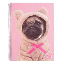 Cuaderno Tapa Polipropileno A4 5X5 Microperforado Studio Pets Dogs 2019