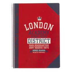 Cuaderno Tapa Polipropileno A4 5X5 Microperforado London Collage