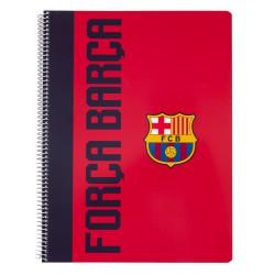 Cuaderno Tapa Polipropileno A4 5X5 Microperforado Fc Barcelona Total Fans