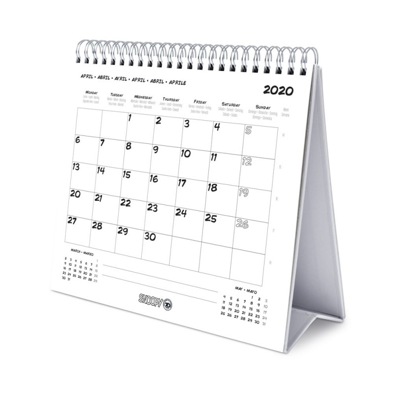 Calendario Snoopy 2020.Calendario De Escritorio Deluxe 2020 Snoopy Nosoloposters Com