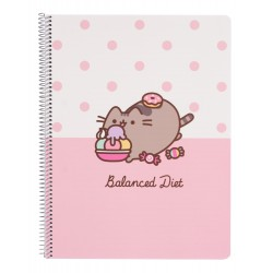 Cuaderno Tapa Polipropileno A4 Pautado Microperforado Pusheen Rose Collection