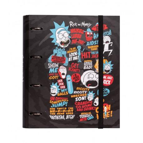 Carpeta 4 Anillas Troquelada Premium Rick & Morty
