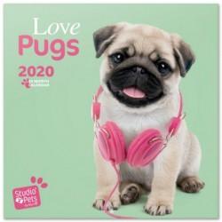 Calendario 2020 30X30 Studio Pets Pugs