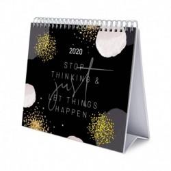 Calendario De Escritorio Deluxe 2020 Glitter Gold Dreams