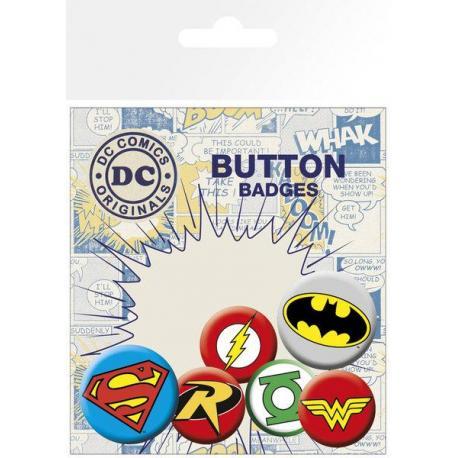 Pack Chapas Logos DC Comic