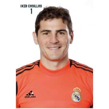Postal A4 Real Madrid Casillas 2012