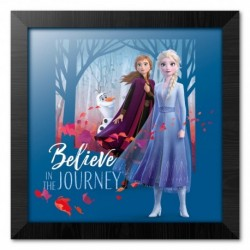 Print Enmarcado 30X30 Cm Disney Frozen Believe In The Journey