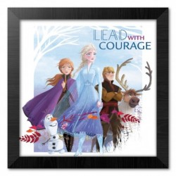 Print Enmarcado 30X30 Cm Disney Frozen Lead With Courage