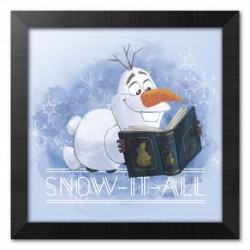Print Enmarcado 30X30 Cm Disney Frozen Snow It All