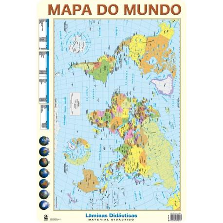 Lâminas Educativas Mapa do mundo