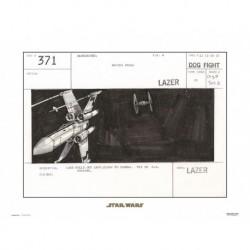 Print 30X40 Cm Star Wars Storyboard X-Wing