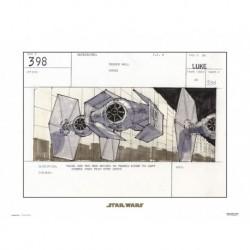Print 30X40 Cm Star Wars Storyboard Tie-Fighter