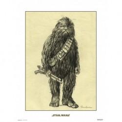 Print 30X40 Cm Star Wars Concept Art Chewbacca