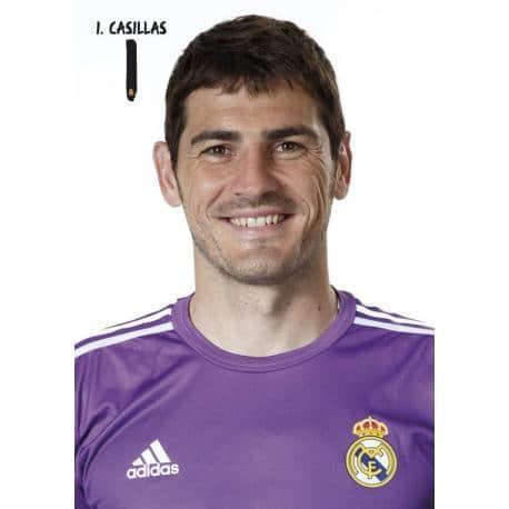Postal A4 Real Madrid Casillas 2013-14