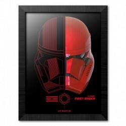 Print Enmarcado 30X40 Cm Star Wars Episodio IX Sith Troopers