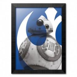 Print Enmarcado 30X40 Cm Star Wars Episodio IX Bb-8