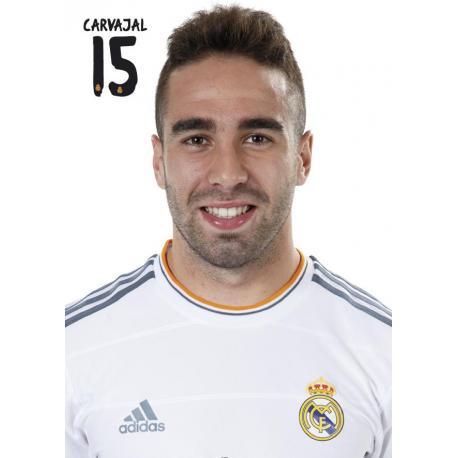 Postal Real Madrid Carvajal 2013-14
