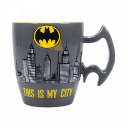 Taza Relieve Dc Comics Batman Ciudad