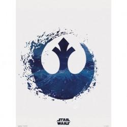 Print 30X40 Cm Star Wars Episodio IX Rebel Logo