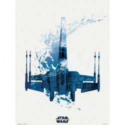 Print 30X40 Cm Star Wars Episodio IX X-Wing