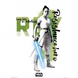 Print 30X40 Cm Star Wars Episodio IX Rey Resistance Hero