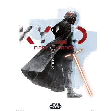 Print 30X40 Cm Star Wars Episodio IX Kylo Ren First Order Leader