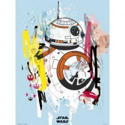 Print 30X40 Cm Star Wars Episodio IX Artist Bb-8
