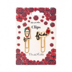 Clips Con Topper Frida Kahlo