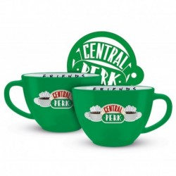 Taza Cappuccino Friends Central Perk Green