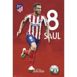 Poster Atletico De Madrid 2019/2020 Saul