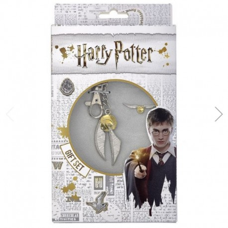 Set Llavero Y Pin Harry Potter Snitch