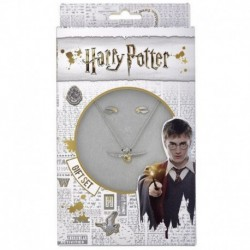 Set Colgante Y Pendientes Harry Potter Snitch