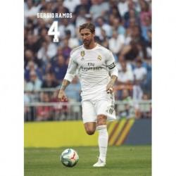 Postal Real Madrid 2019/2020 Sergio Ramos Accion
