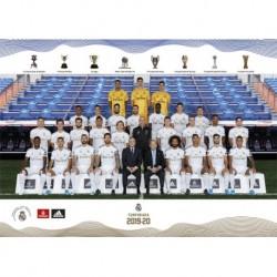 Postal A4 Real Madrid 2019/2020 Plantilla