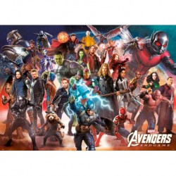 Poster Gigante Marvel Avengers Endgame Line Up