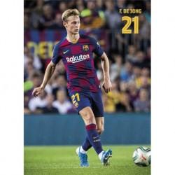 Postal Fc Barcelona 2019/2020 De Jong Accion