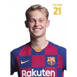 Postal Fc Barcelona 2019/2020 De Jong Busto