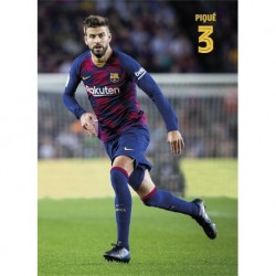 Postal Fc Barcelona 2019/2020 Pique Accion