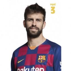 Postal Fc Barcelona 2019/2020 Pique Busto