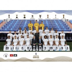 Postal Real Madrid 2019/2020 A5 Plantilla